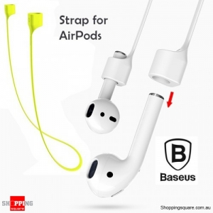 Baseus Silicone Magnetic Flexible Safety Neck Strap for iPhone AirPods Earphone Headphone Green Colour