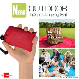 NEW 150cm Outdoor Waterproof Folding Handheld Portable Mat for Travel Camping Picnic Beach - Red Colour