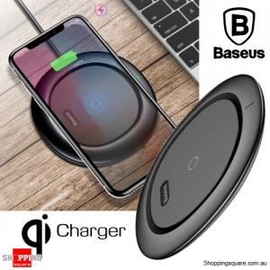 Baseus Wireless Qi Desktop Charger Pad for iPhone XS Max XR X 8 Plus Samsung Note 8 S8 S9 Black Colour