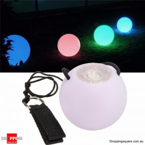 POI 1PCS of Pro LED Multicolored Glow Throw Balls Light Up for Belly Dance Hand Props