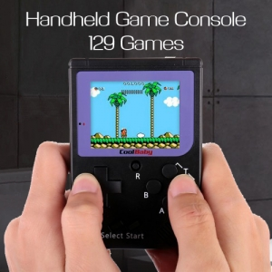 129 Games Mini FC Nostalgic Handheld Vintage Childhood Game Console Tetris PSP Style Black Colour
