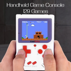 129 Games Mini FC Nostalgic Handheld Vintage Childhood Game Console Tetris PSP Style White Colour