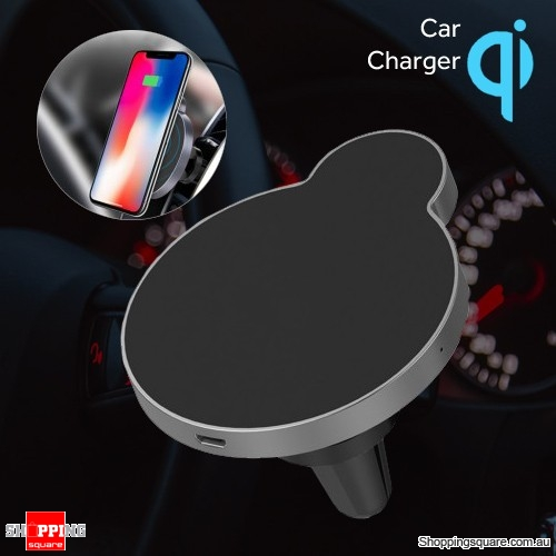OVEVO M2 Car Mount QI Fast Wireless Charger Phone Holder