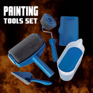 5pcs of Paint Roller Runner Wall Painting Home Renovation Tools Set