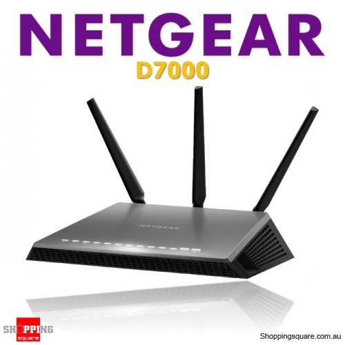 Netgear D7000 AC1900 Nighthawk VDSL/ADSL 802.11ac Dual Band Gigabit Modem Router