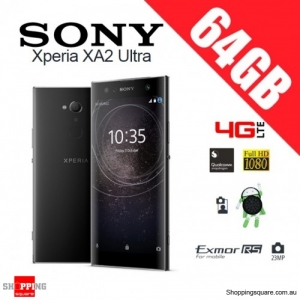 Sony Xperia XA2 Ultra 64GB H4233 Dual Sim 4G LTE Unlocked Smart Phone Black