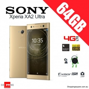 Sony Xperia XA2 Ultra 64GB H4233 Dual Sim 4G LTE Unlocked Smart Phone Gold