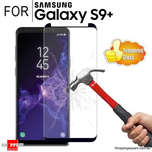For Samsung Galaxy S9 Plus Premium Real 3D Fully Covered Tempered Glass Film Screen Protector Black Colour