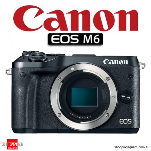 Canon EOS M6 DSLR 24.2MP Full HD 1080p Digital Camera Body Black