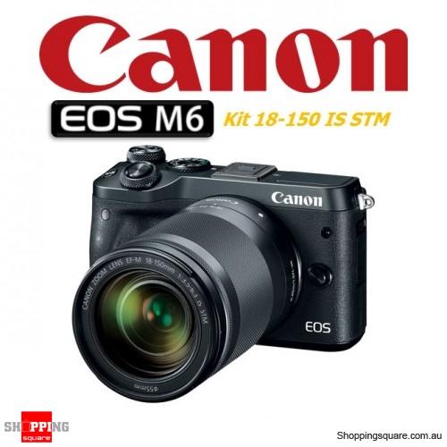 Canon EOS M6 Kit 18-150mm Lens DSLR 24.2MP Full HD 1080p Digital Camera Black