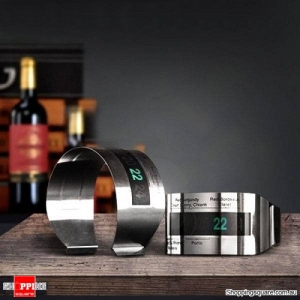 Stainless steel Bracelet Digital Wine Bottle Thermometer
