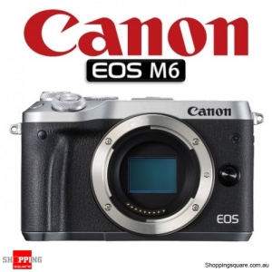 Canon EOS M6 DSLR 24.2MP Full HD 1080p Digital Camera Body Silver