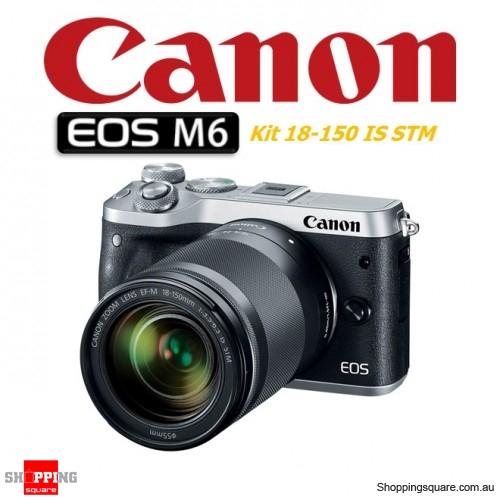Canon EOS M6 Kit 18-150mm Lens DSLR 24.2MP Full HD 1080p Digital Camera Silver