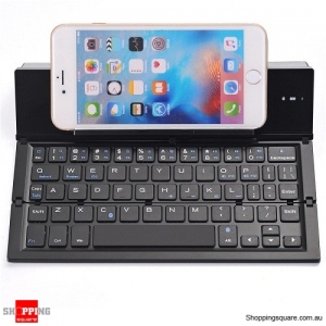 QWERTY Mini Folding Bluetooth 3.0 Keyboard for iPhone Samsung Phone Tablet - Black Colour