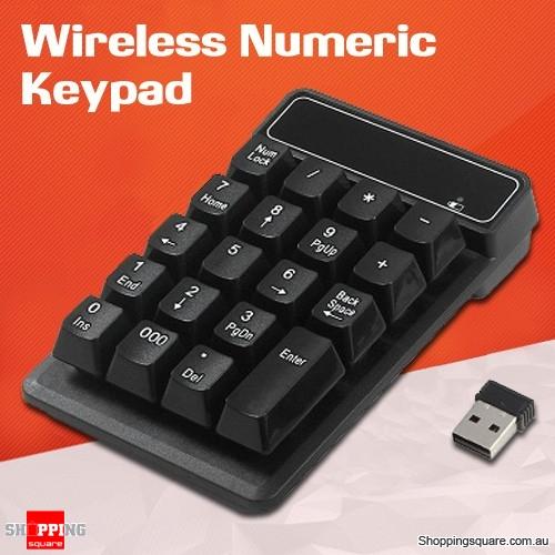 19Keys Wireless 2.4GHz Number Numeric Pad Keypad Keyboard for Laptop Windows PC Mac