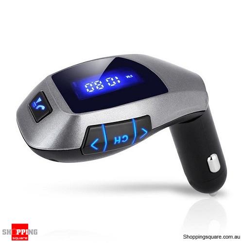 X5 Car Bluetooth Kit FM Wireless Transmitter Handsfree Music Player for iPhone Samsung