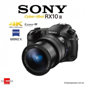 Sony Cyber-shot DSC-RX10 III Mark 3 20.1MP 4K Ultra HD Digital Camera Black