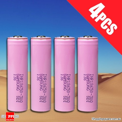 4x Samsung Rechargeable 18650 3000mAh  Lithium Battery INR18650-30Q