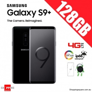 Samsung Galaxy S9 Plus 128GB Dual Sim 4G LTE Unlocked Smart Phone Midnight Black