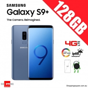 Samsung Galaxy S9 Plus 128GB Dual Sim 4G LTE Unlocked Smart Phone Coral Blue