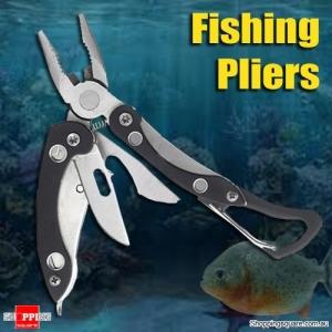 9 in 1 Multifunction Foldable Fishing Pliers Steel Outdooor Screwdriver Opener