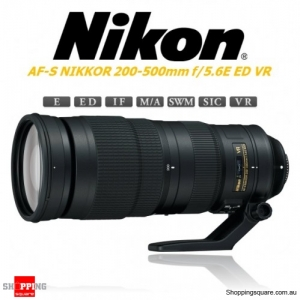 Nikon AF-S NIKKOR 200-500mm f/5.6E ED VR Digital Camera Lens Black