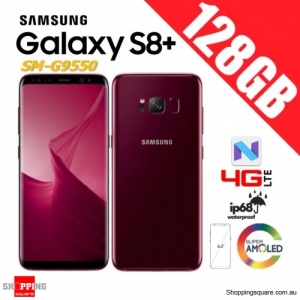 Samsung Galaxy S8+ 128GB G9550 Dual Sim 4G LTE Unlocked Smart Phone Burgundy Red