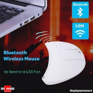 Ergonomic Bluetooth Wireless 1600DPI Vertical Mouse with 3 Adjustable DPI for PC Mac White Colour