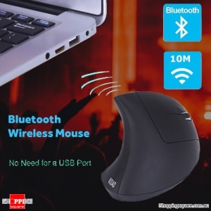 Ergonomic Bluetooth Wireless 1600DPI Vertical Mouse with 3 Adjustable DPI for PC Mac Black Colour