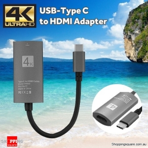 USB-C Type C USB3.1 Male to HDMI Female Adapter Connector Cable for Macbook 4K HDTV