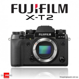 Fujifilm X-T2 DSLR 24.3MP 4K Ultra HD Digital Camera Body Black