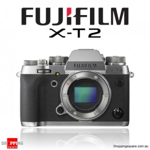 Fujifilm X-T2 DSLR 24.3MP 4K Ultra HD Digital Camera Body Graphite Silver