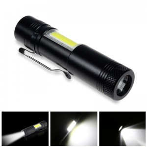 Mini Aluminum Alloy 4-mode LED Penlight Cree XPE+COB