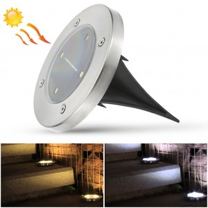 Water-resistant Solar Powered Ground Garden Light - Cool White
