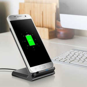 10W QI Wireless Fast Charging Stand for iPhone Samsung