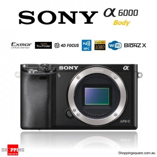 Sony A6000 Alpha 6000 ILCE-6000 24.3MP Digital Camera Body Black