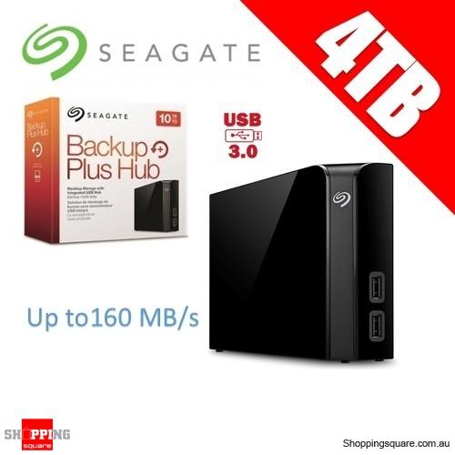Seagate 4TB Backup Plus USB 3.0 External Hard Drive with USB Hub 160MB/s (STEL4000300)