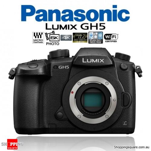 Panasonic Lumix DMC-GH5 DSLR 4K 6K 20.3MP Digital Camera Body Black