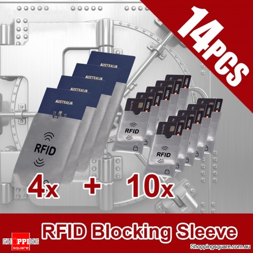 14Pcs of RFID Blocking Sleeve for Credit Card ID for Protection Anti Scan Safety Security