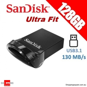 SanDisk 128GB Ultra Fit USB3.1 (Gen 1) Flash Drive 130MB/s Memory Stick(SDCZ430)
