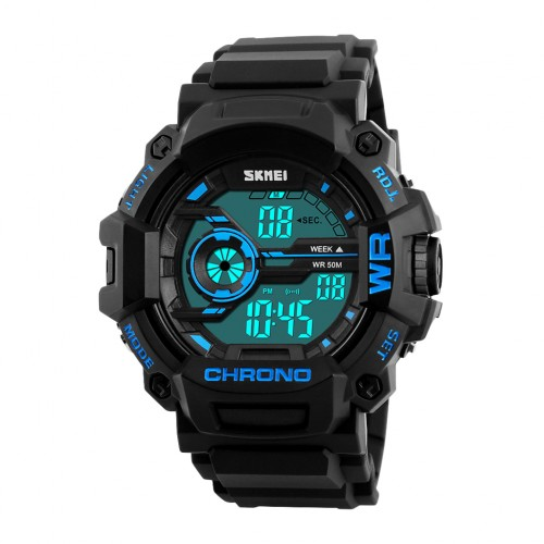 SKMEI 1233 Men's EL Backlight Sports Watch Blue Colour