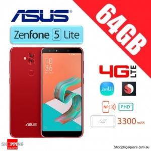 Asus Zenfone 5Q ZC600KL 5 Lite 64GB 4GB RAM 4G LTE Unlocked Smart Phone Rouge Red