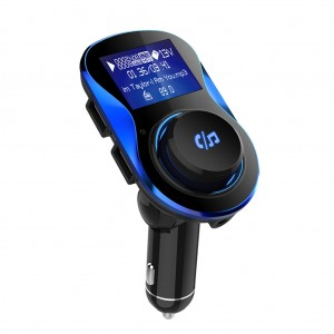 Bluetooth Car FM Transmitter MP3 Player Handsfree Dual USB Charger Blue Colour