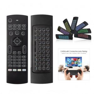 MX3 3 in 1 2.4G Air Mouse Wireless Keyboard with Colourful Backlit for TV Box Smart TV Projector
