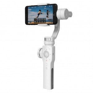 Zhiyun Smooth 4 3 Axis Brushless Handheld Gimbal Stabilizer for iPhone Samsung - White Colour