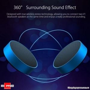 Wireless TWS Hi-fi Bluetooth 4.2 Subwoofer Stereo Speaker - Blue