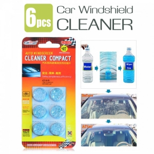 6PCS of Complex Windshield Glass Solid Wiper Washer Tablets Cleaner for Car