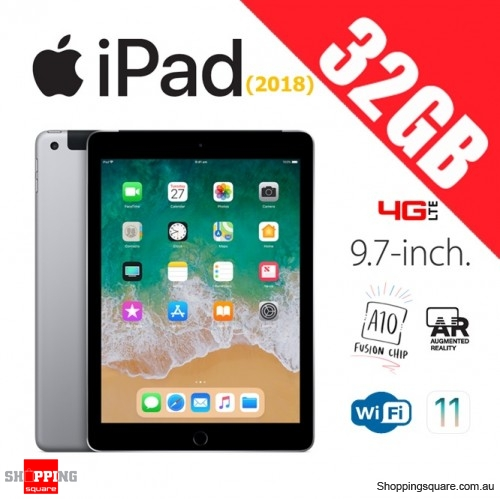 Apple iPad 9.7 (2018) 32GB WiFi + Cellular 4G LTE Tablet Computer PC Space Gray