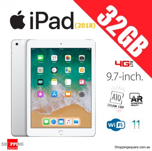 Apple iPad 9.7 (2018) 32GB WiFi + Cellular 4G LTE Tablet Computer PC Silver