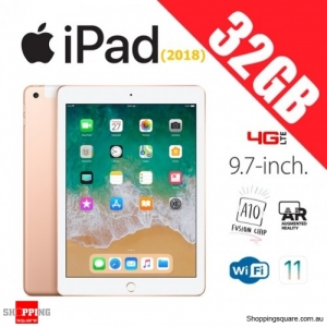 Apple iPad 9.7 (2018) 32GB WiFi + Cellular 4G LTE Tablet Computer PC Gold